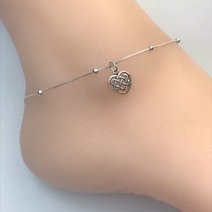 Jewelry - Sterling Silver Celtic Heart Anklet